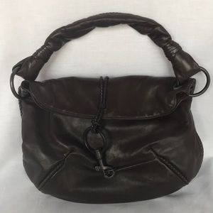 Bottega Veneta dark brown leather hobo purse